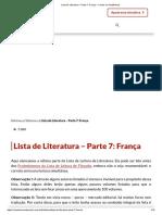 Lista de Literatura – Parte 7_ França - Contra os Acadêmicos