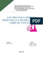 ENSAYO ley organica sobre el derecho a la mujer a una vida libre de violencia
