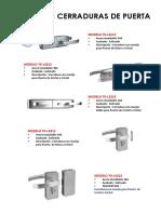 Catálogo de Cerraduras de Puerta