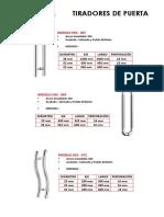 Catálogo de Tiradores de Puerta (1)