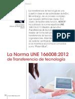 La Norma UNE 166008_2012 de Transferencia de Tecnología