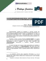A lei de responsabilidade fiscal-notas esseciais e alguns aspectos da lei de improbidade administrativa