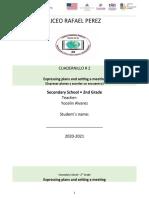 Cuadernillo #2  Secondary 2nd Grade #2 _ Expresar Planes & Acordar un Encuentro