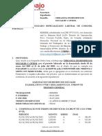 DEMANDA BENEFICIOS SOCIALES ROCESO ORDINARIO