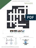 Imprimir Crucigrama_ Estados de la materia. (2º - Media básica - Física - ciencias físicas)