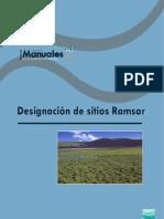 Designación sitios Ramsar 2007