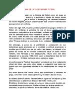 Jose Andrés Rodríguez Ramírez  Historia de la táctica en el fútbol