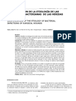 IDENTIFICACIÓN DE LAS ETIOLOGÍAS DE LAS INFECCIONES BACTERIANAS DE LAS HERIDAS OPERATORIAS