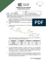 Examen parcial de Hidráulica de Canales - formato UC (2019-2) v071019