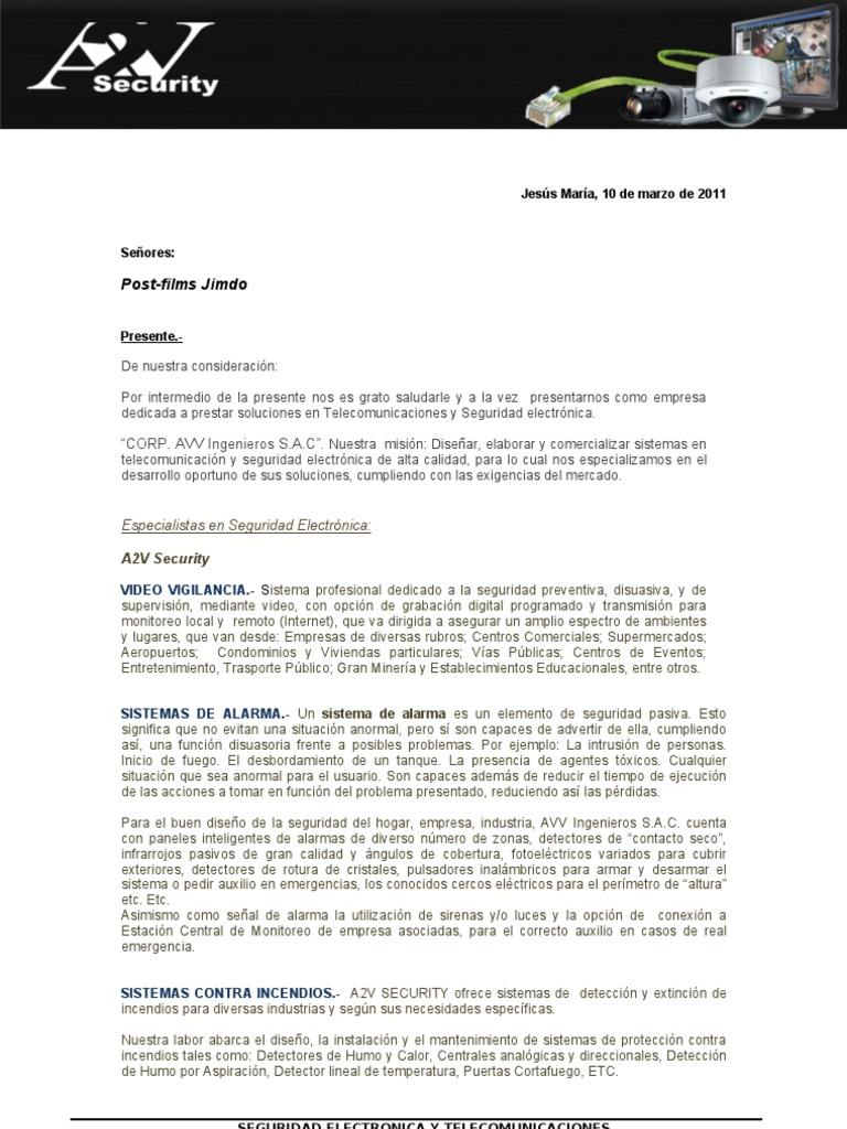 Carta de presentaci n for Como hacer una propuesta para un comedor industrial