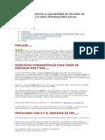 Manual de instalación y operatividad de Servidor de DNS e IIS6