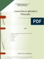 Neurociência Aplicada a Educação (1)