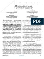 Health Information System Using Blockchain Technology