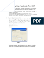 Setting Page Numbers in Word 2007