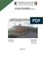 INFORME TECNICO MTTO A BARRA PRINCIPAL SECCION 2 SUB LECHERIA