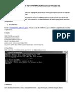 Segurança em HOTSPOT MIKROTIK com certificado SSL