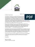 Fauntleroy Community Association letter