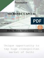 Tdi Delhi Metro Advtg.