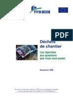 FFB - Déchets de chantier -FAQ