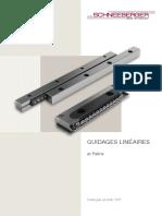 Guidages Lineaires Catalogue Des Produits FR