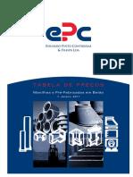 EPC Tabela Pre-Fabricados