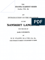 Wilson - An Introduction to the Grammar of Sanskrit