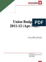 Union Budget Document 2011-12