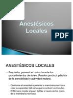 Mecanismos de Accion de Los Anestesicos Locales