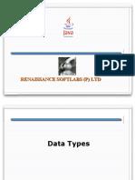 2.DataTypes ControlStatements Operators