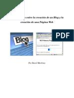 PaginaWeb vrs Blog