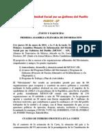 Boletín 3 MUSOC-GP Invitación 1ra. Asamblea Informativa, 17 enero 2011