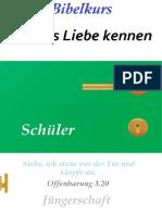 Livro discipulado Conhecendo o amor de Deus - alemão - Jüngerschaft