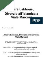 presentazione_Amara Lakhous - Divorzio all'islamica a Viale Marconi