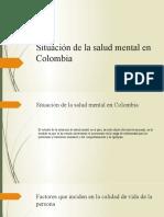Situación de la salud mental en Colombia