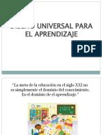 presentacion dua diseño universal de aprendizaje