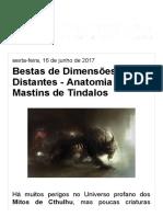 Mundo Tentacular_ Bestas de Dimensões Distantes - Anatomia dos Mastins de Tindalos