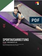 Eine Ausarbeitung zum Thema Sport