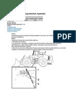 Volvo L150 E - Brake system, checking function, hydraulic
