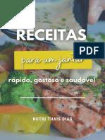 Receitas e dicas para Jantar - Nutri Thais Dias