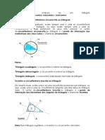 Os pontos notáveis de um triângulo