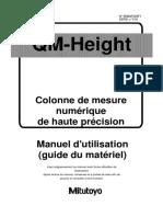 colonne de mesure instruction