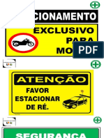 MODELO DE PLACAS SEGURANÇA DO TRABALHO - CANTEIRO DE OBRAS - CONS. LM