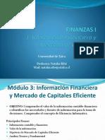 Finanzas I 3 - Información Financiera y Mercado de Capitales