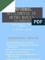 Informal Settlements in Metro Manila
