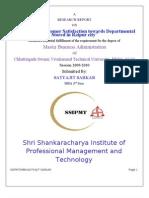 A Study on Customer Satisfaction towards Departmental Stored in Raipur city satyajit sarkar