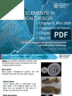 Design II MDE 221 Mott Ch 8 and Ch 9 Spur Gears