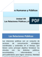 Presentación de La Clase 8 - Unidad VII - Relaciones Humanas y Públicas