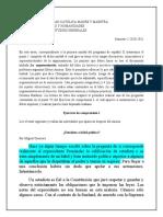 Estadista o hábil político Ejercicio de comprensión I, español II