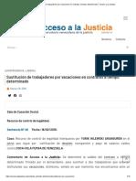 Sustitución de trabajadores por vacaciones en contratos a tiempo determinado │ Acceso a la Justicia
