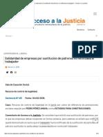 Solidaridad de empresas por sustitución de patronos no notificada al trabajador │ Acceso a la Justicia